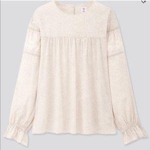 Anna Sui Uniqlo Boho Prairie Style Long Sleeve M